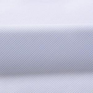 Style Inspo Thomas Mason 120s Light Blue Mini Grid Twill Cotton Very Lightweight