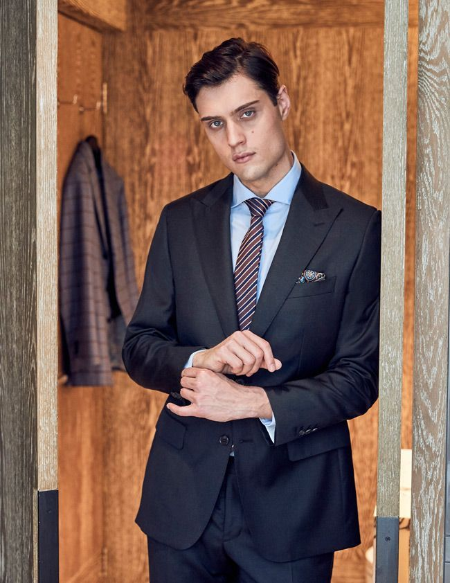 How To Choose Color Customize Suit Patterns Charcoal Black Office Menswear