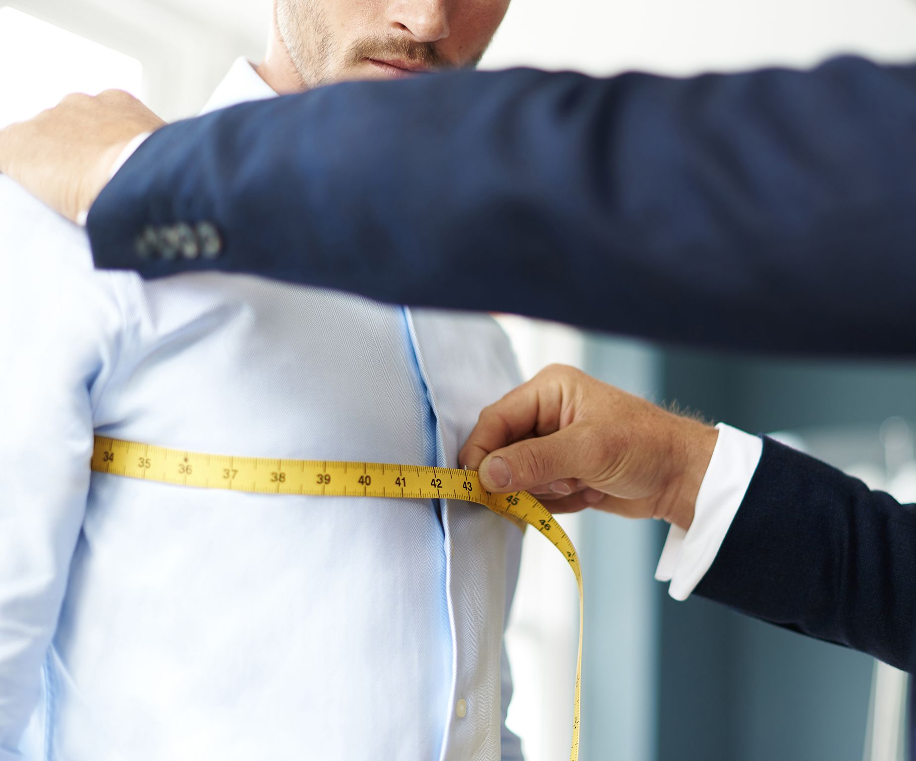 Chest Measurement by Senszio's Bespoke Master