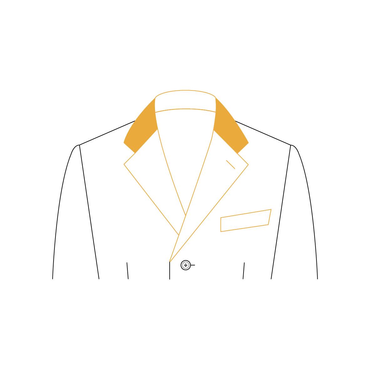 Senszio Garment Finals V1 Coat Collar Contrast Suede