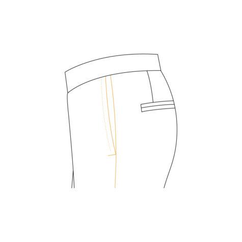 Senszio Garment Finals V2 Tuxedo Trouser Plain