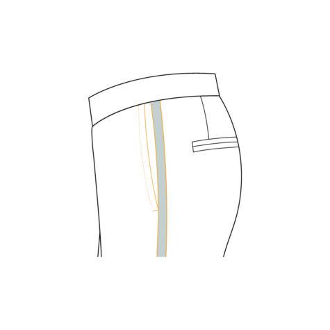 Senszio Garment Finals V2 Tuxedo Trouser Plain And Formal
