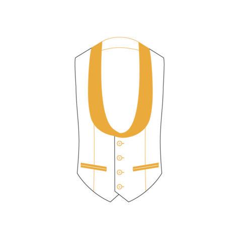 Senszio Garment Finals V2 Tuxedo Waistcoat Style 1