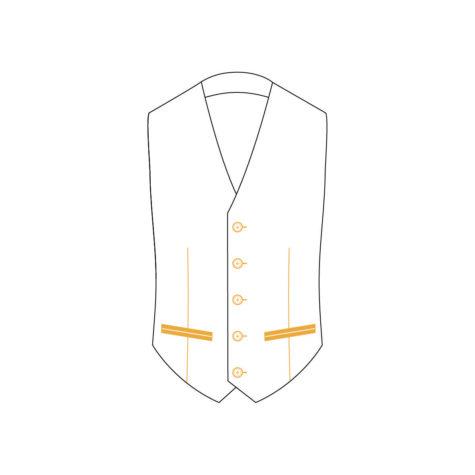 Senszio Garment Finals V2 Tuxedo Waistcoat Style 2