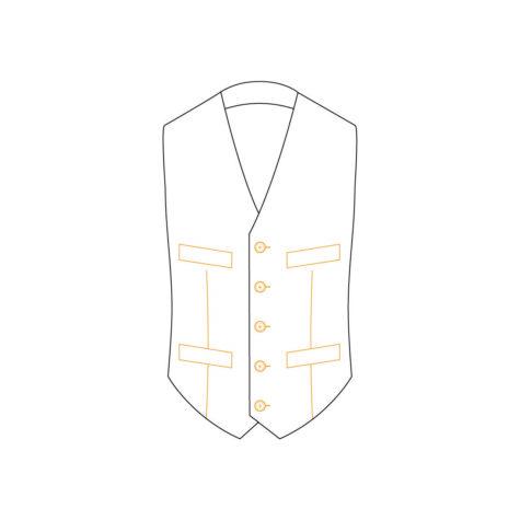Senszio Garment Finals V2 Waistcoat Style 2