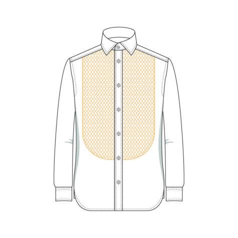 Senszio Garment Finals V1 Shirt Bib Front With Stud Holes