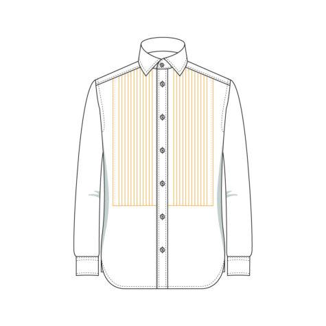 Senszio Garment Finals V1 Shirt Pleated With Stud Holes