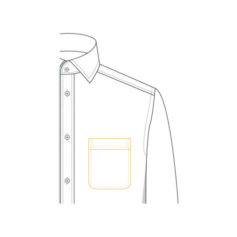 Senszio Garment Finals V1 Shirt Pocket Rounded