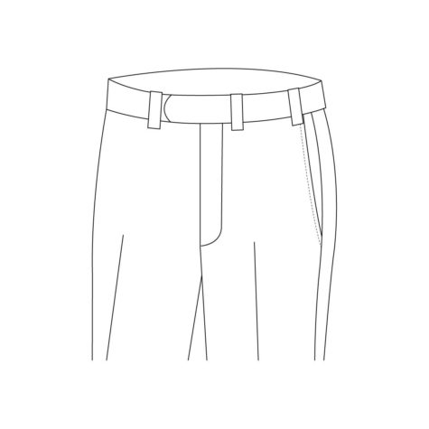 Senszio Garment Finals V1 Trouser Style Belt Loops Without Button Closure