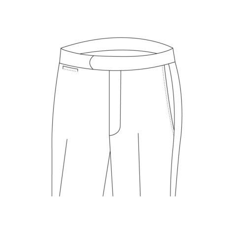 Senszio Garment Finals V1 Trouser Style Buckle Strap Without Button Closure