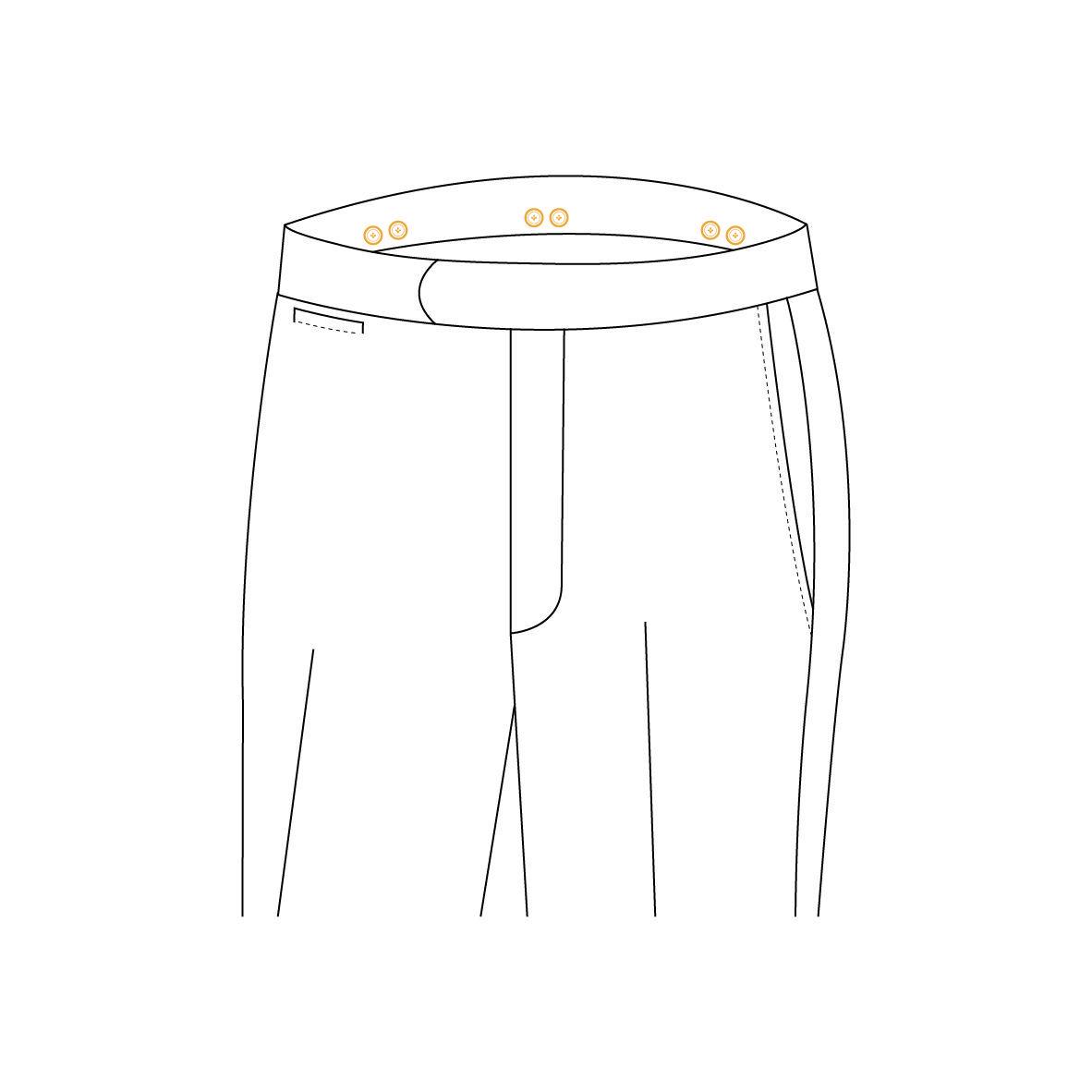 Senszio Garment Finals V1 Trouser Style Suspender Buttons