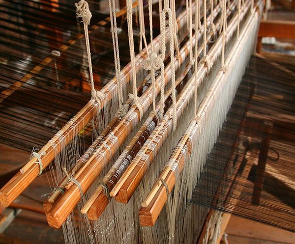 Fabric Loom Threads Weave Sheep To Suit