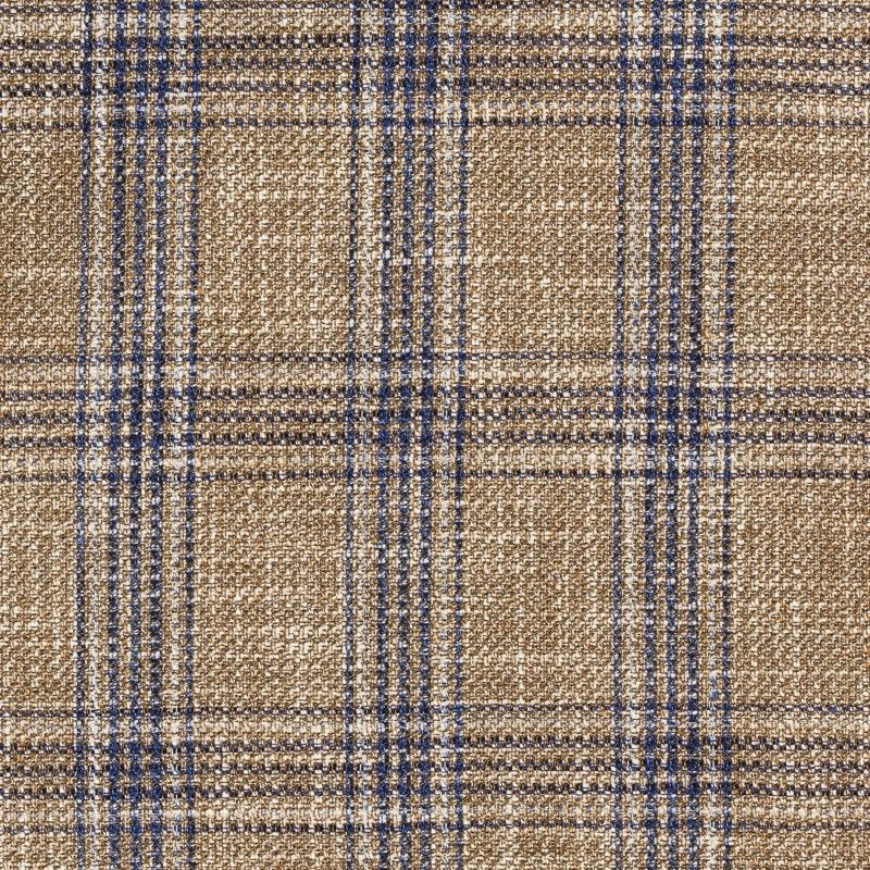 C1013 Carnet Blue Overcheck On Brown Ground