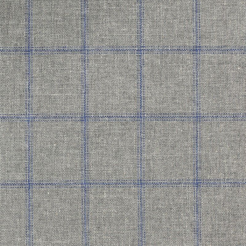 C1022 Carnet Light Blue Check On Grey Ground