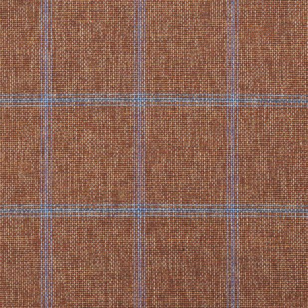 C1025 Carnet Light Blue Check On Brick Red Ground