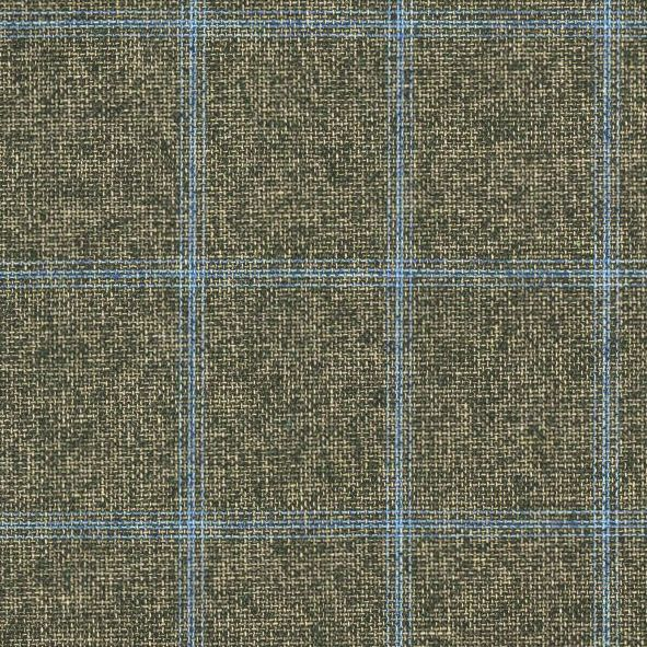 C1026 Carnet Light Blue Check On Green Ground
