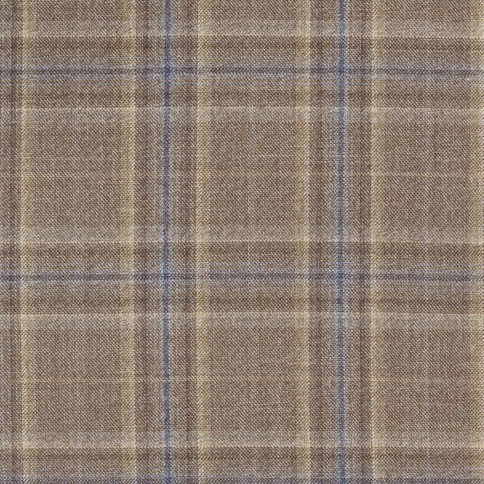 C1034 Carnet Blue Overcheck On Brown Ground