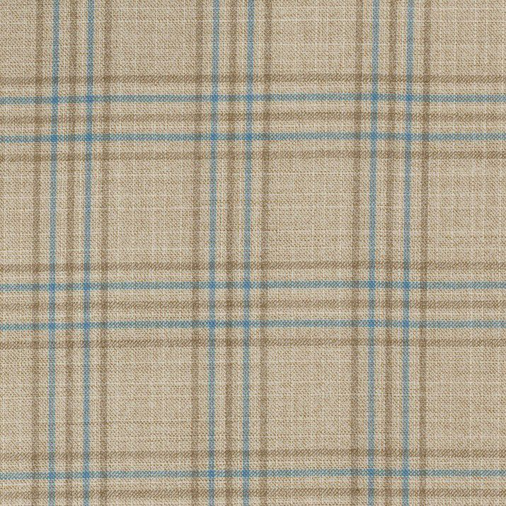 C1047 Carnet Light Blue Overcheck On Beige Ground
