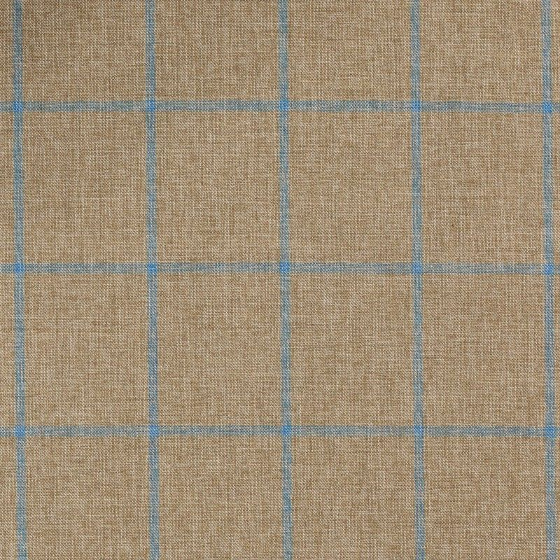 C1057 Carnet Light Blue Check On Beige Ground