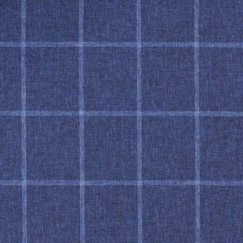 C1058 Carnet Light Blue Check On Blue Ground