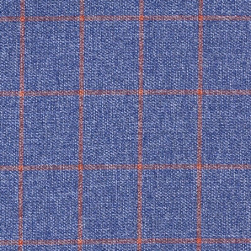 C1059 Carnet Orange Check On Light Blue Ground