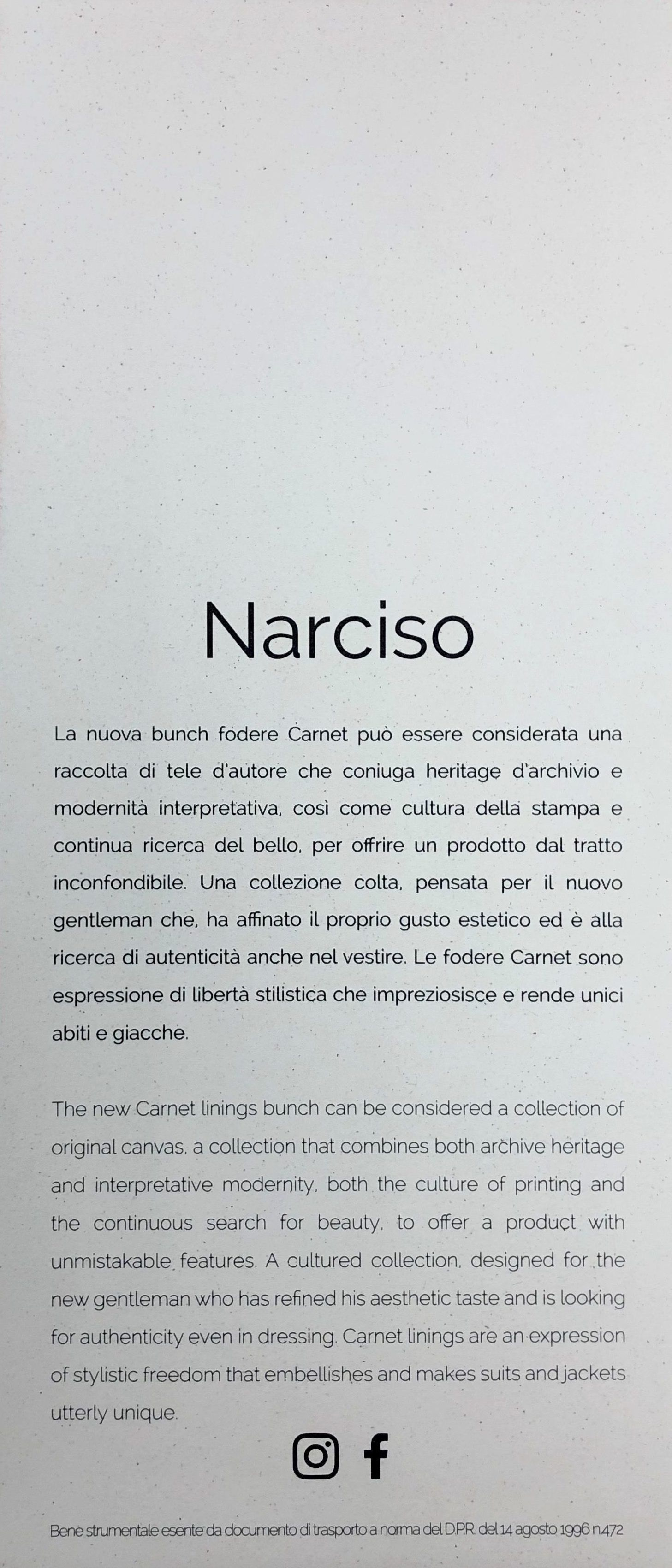 Carnet Narciso Inside Cover