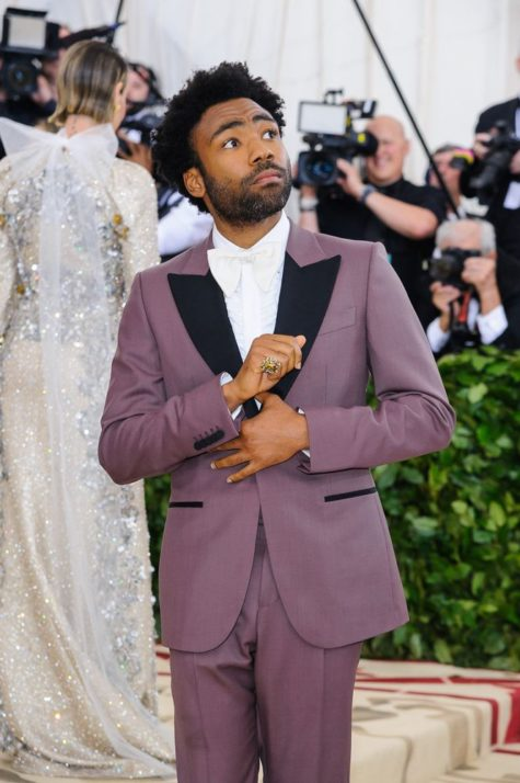 Childish Gambino Purple Tuxedo Met Gala Senszio