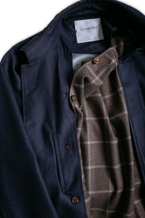 Custom tailored trench coat