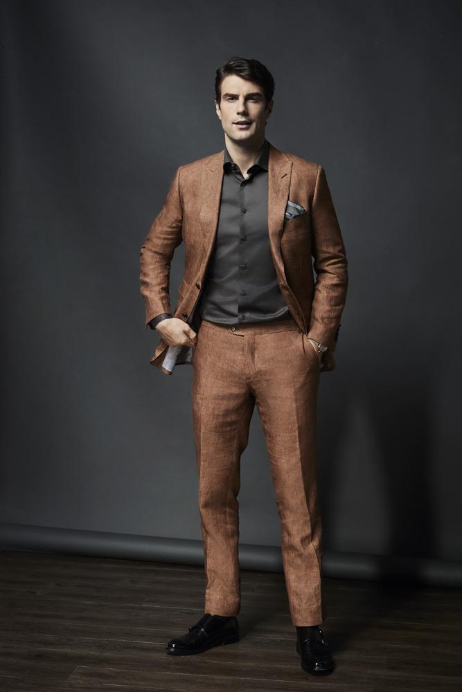 Medium Brown Linen Suit