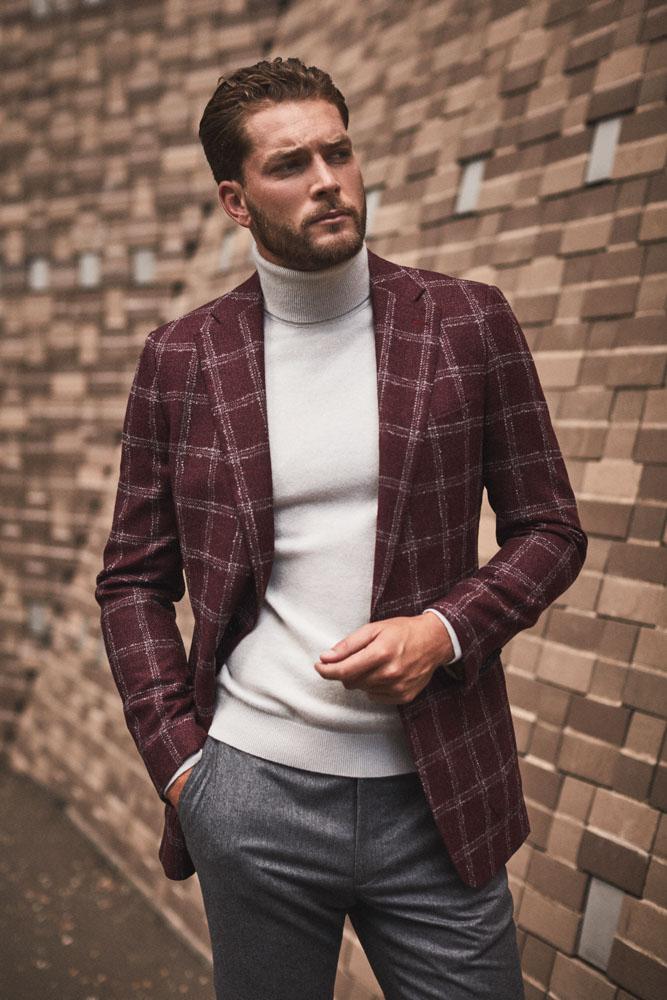 Aim for Combinations - Loro Piana Sport Jacket in Wool & Silk ; Vitale Barberis Grey Flannel Trousers in 100% Wool