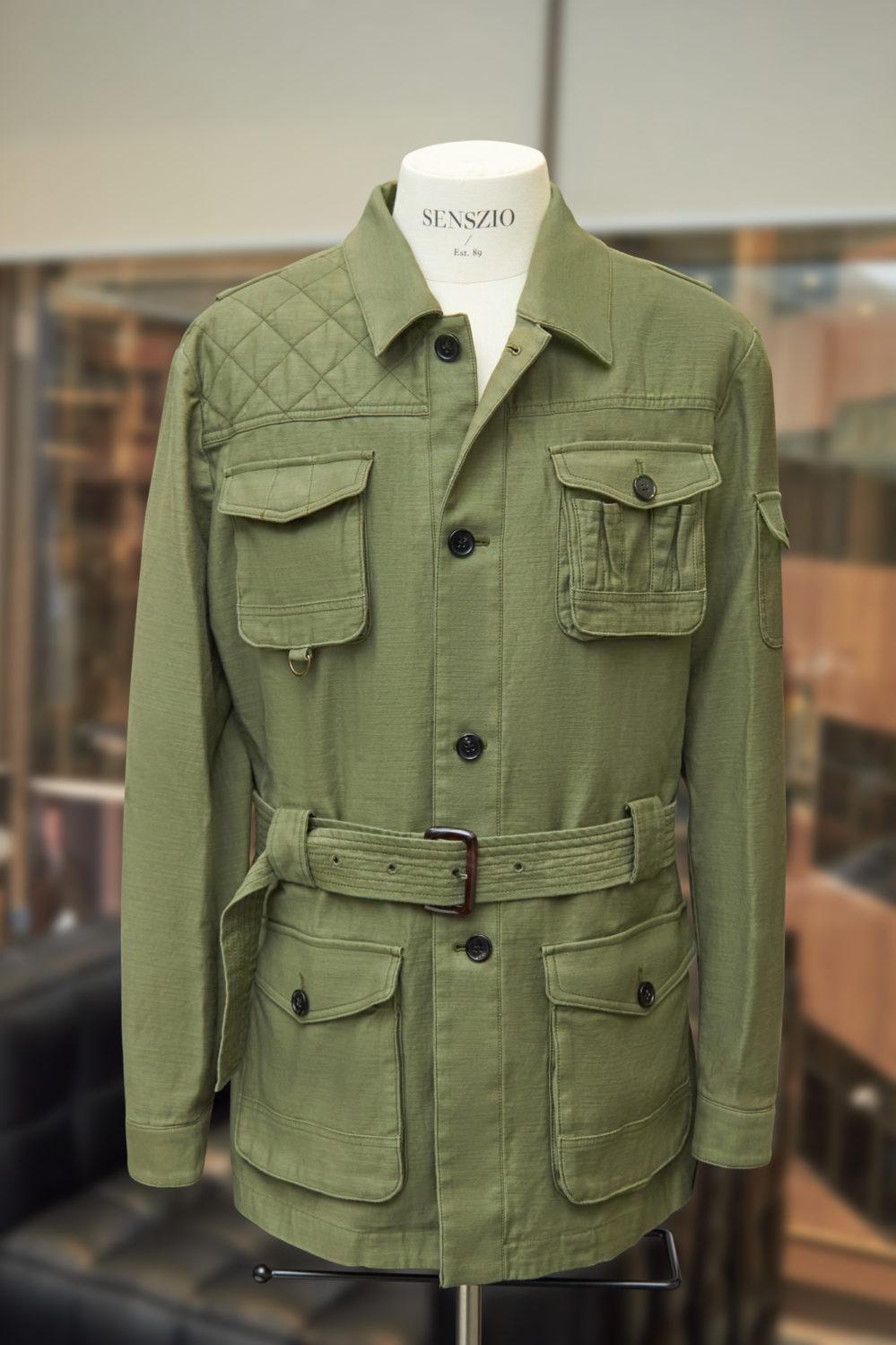 Custom tailored safari jackets, a highly versatile outwear garment, part of Senszio's men's casualwear range