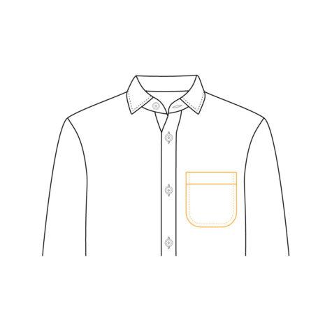 Shirt Jacket Chest Pocket 02