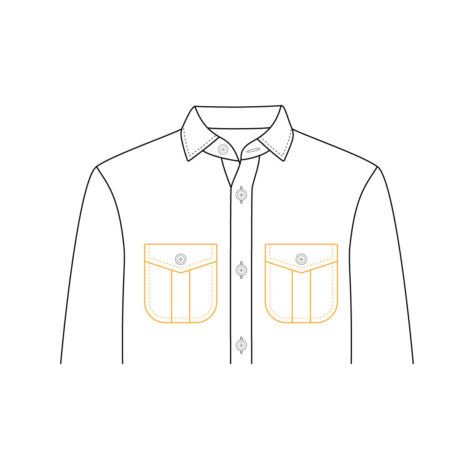 Shirt Jacket Chest Pocket 03