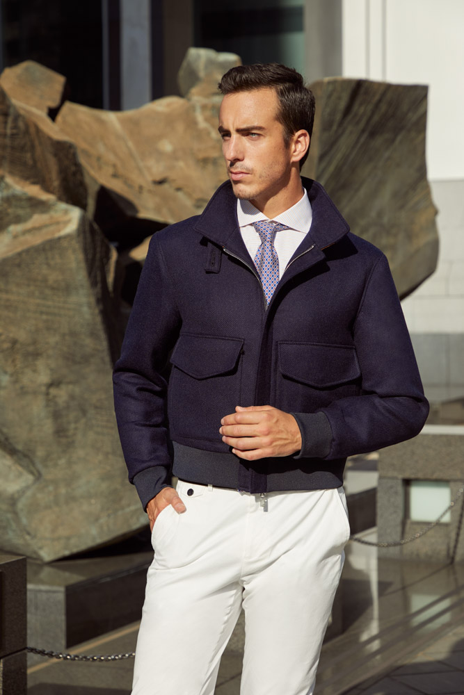 Custom tailored flight jacket, inspired by the G-1 flight jacket - a timeless and stylish casualwear garment